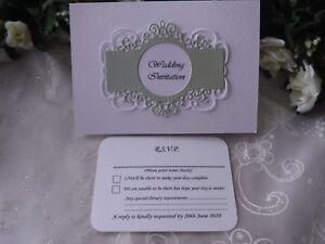 Beautiful Personalised Invitations/Wedding/Anniversary - Regal Range- Free P&P