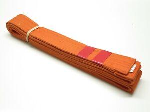 Orange Taekwondo Karate Belt Martial Arts Judo Jiu-Jitsu Belt Size 3 100% Cotton