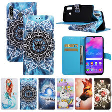 For Samsung Fashion Hot Painted Card Wallet Flip Antislip Phone Case Cover Back