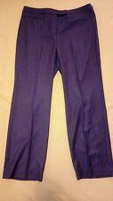 NWT Merona Women's size 14 gray pinstriped classic fit pants (55)