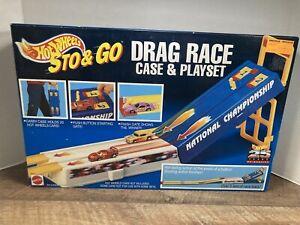 Mattel 🔥Hot Wheels🔥 Sto & Go Drag Race Case & Play Set 1993 New! Sealed!