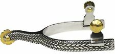 Rope Design Band Western Ladies Stainless Steel Pair Spurs