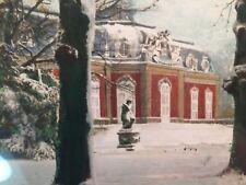 Aquarell Wilhelm Gustav Groos Schlossgarten Düsseldorfer Schule Biedermeier 1840