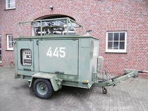1x Stromaggregart 20KVA mit Lichtmast Baustellenlicht Scheinwerfer  (LM445)