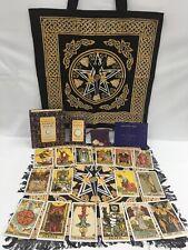 Original Rider Waite Tarot Set PLUS Goddess Tote & Cloth, Energy Stones & Bag
