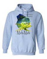 hooded Pullover Sweatshirt Hoodie Fish Fishing Mahi Mahi Coryphaena Hippurus