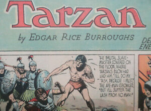 TARZAN Sunday 4.8.1940 BURNE HOGARTH Tabloid Page fast DIN A3 US Sonntagsseite