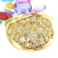1.28 Carat Natural Diamond 14K Solid Yellow Gold Ring