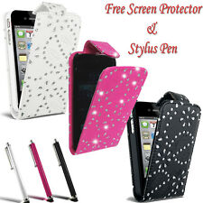 Diamante Glitter Flip Case Pouch PU Leather Cover For Samsung Galaxy Ace 2 I8160