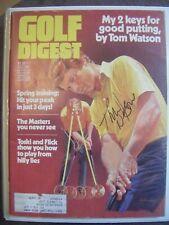TOM WATSON signed 1980 GOLF DIGEST magazine AUTO Autographed sports illustrated