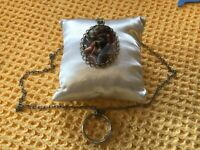Vintage Multiple Agate stones Large Pendant And Necklace