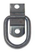 "(10) 1/4"" D-Rings with Bolt On Clip"