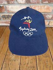 SYDNEY 2000 Olympics  Baseball Cap Hat  Adjustable Blue Embroidered Logo