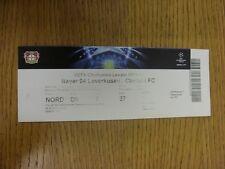 23/11/2011 Ticket: Bayer Leverkusen V Chelsea [Champions League] (gefaltet). Danke