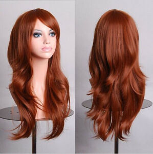 70cm Long Curly Wigs Cosplay Costume Anime Hair Halloween Full Wavy Party Wig
