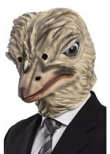 Ostrich Mask Emu Latex Halloween Fancy Dress Bird Animal Adults Costume Zoo Prop