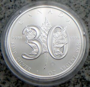 ONE - 2018 Canadian Maple 1 oz Silver Coin – 30th Anniversary