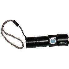 Kyasi Mini USB Rechargeable LED Flashlight - Black