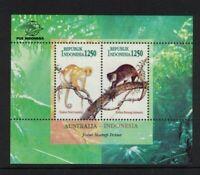 MAD334) Australia 1996 Cucus Indonesia/Australia Joint Issue Minisheet MUH