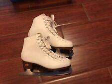 Riedell White Ice Skates Sz. J11