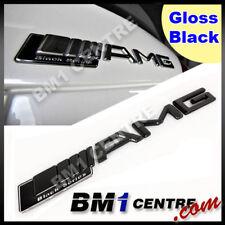 AMG GLOSS BLACK SERIES REAR EMBLEM BADGE BENZ C E S CL SL ML CLK CLS SLK CLASS