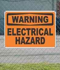 """WARNING Electrical Hazard - OSHA Safety SIGN 10"""" x 14"""""""