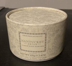 Crabtree & Evelyn Nantucket Briar Scented Body Powder 3.4 oz New Puff Sealed