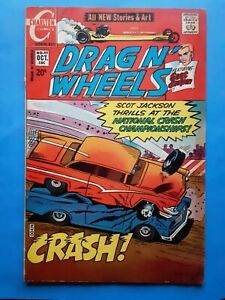 SCARCE 1971 Drag N' Wheels #49 Charlton Comic Scot Drag Racer Car Race Driving