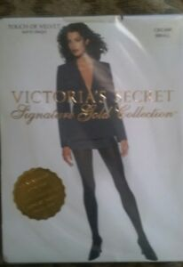 Victoria's Secret Signature Gold Collection Touch of Velvet CREAM Pantyhose