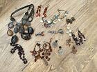 Job Lot Bundle Vintage Modern Jewellery Necklace Earrings Great For Reseale