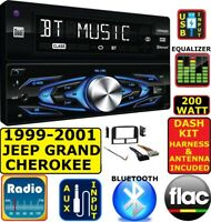 1999-2001 JEEP GRAND CHEROKEE BLUETOOTH USB AUX AM/FM CAR RADIO STEREO PACKAGE