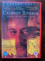 Cremisi Fiumi 2 DVD 2004 II Francese Film W / Jean Reno Noleggio Versione