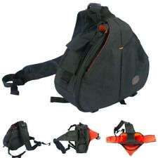 Camera Lens Black Cross Body Photography Padded Backpack Bag for Sony Canon DSLR