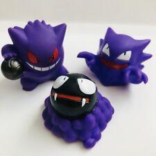 Rare Gengar Gastly & Haunter Nintendo Pokemon Figures 3 vtg Toy Ghost Bandai Set