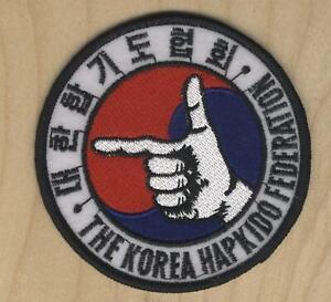"THE KOREA HAPKIDO FEDERATION 3.5"" PATCH"