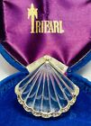 Rare Trifari Alfred Philippe Rhodium And Pave Lucite Jelly Belly Shell Brooch
