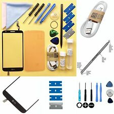 LG G2 Front Replacement Digitizer TOUCH SCREEN Outer GLASS/LENS Repair Kit BLACK