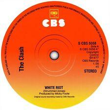 The Clash White Riot record label vinyl sticker. Punk