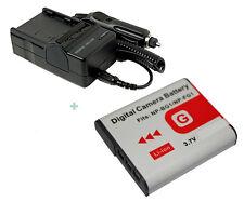 Battery + Charger for Sony Cybershot DSCH3 DSCH7 DSCH9 DSC-W30 DSC-W70 BC-TRG