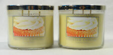 2 Bath Body Works Slatkin & Co. FROSTED CUPCAKE 3-Wick Candle 14.5 oz