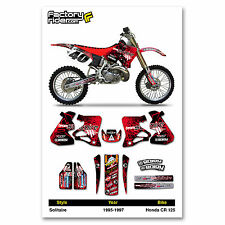 Solitaire Motocross Graphics Honda CR 125 1995-1997 dirt bike graphics ENJOY MFG