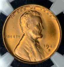 1c One Cent Penny 1942 S MS66 RD NGC Lincoln Wheat WW2 KEY Date Free Shipping.