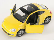 BLITZ VERSAND VW New The Beetle 2012 gelb yellow  Welly Modell Auto 1:34 NEU OVP