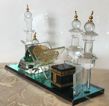 Crystal Cut Glass Mecca Medina Dua Kaaba Mosque Islamic Home Decoration GIFT BOX