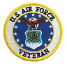 US Air Force Veteran Military  EMBROIDERED 3 inch IRON ON MILITARY PATCH
