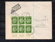 Israel Scott #40 Coins Tab Bock of 6 on Bank Cover!!