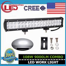 17INCH 108W CREE LED SPOT&FLOOD COMBO WORK LIGHT BAR OFFROAD 4WD 126W/180W/240W