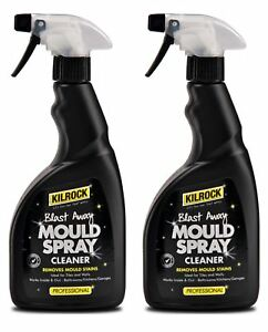 4 x Kilrock Blast Away Mould Stain Remover Spray Cleaner 500ml