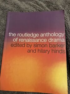 The Routledge Anthology of Renaissance Drama by Taylor & Francis Ltd (Paperback,