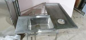 'L' Shape Dishwaher Table - 1440mm/600mm x 1350mm/600mm x 860mm